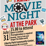 Family Movie Night Flyer 2020