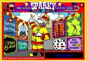 Visit the Sparky the Fire Dog website