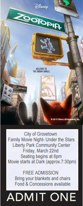 Movie Ticket- Zootopia 19